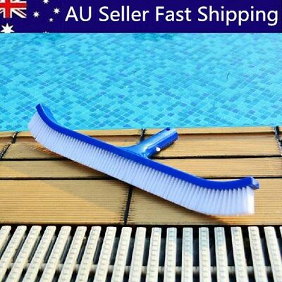 Swimming Pool Spa Algae Cleaning Brush Head Heavy Duty Cleaner Broom Curved Tool