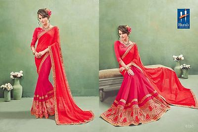 Indian Women Bollywood Designer Sari Georgette Party Wear Wedding Saree 6120