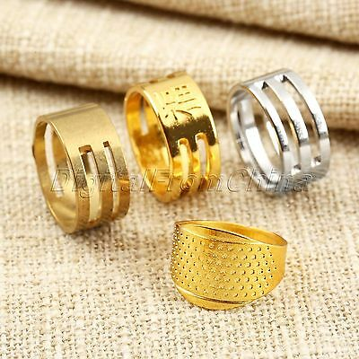 Adjustable Tailor Quilting Sewing Thimbles Ring Needle Hoop Finger Protector