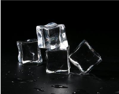 10PCS Square Fake Artificial Acrylic Ice Cubes Crystal Clear