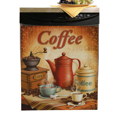 Vintage Coffee Dishwasher Cover, by Collections Etc