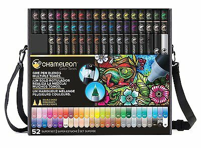 Chameleon Colour Tones 52 Pen Set including tweezers and extra nibs - FREE POST