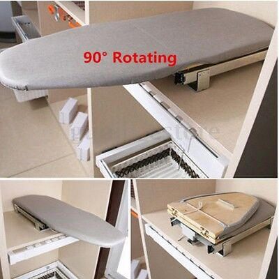 Pull Out Ironing Plate Car Drawer Style Folding Ironing Board including Cover