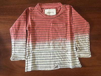 ESP No1 Red Stripe Long Sleeve Tee BNWT