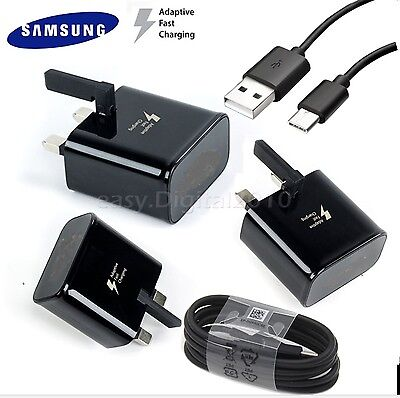 100% Genuine Fast Charger Plug & Cable For Samsung Galaxy S8 S8+ Note 8 A3 2017