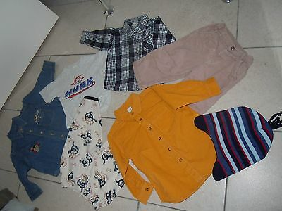 BUNDLE Baby Boys Clothes x9 Size 6-12 Mths