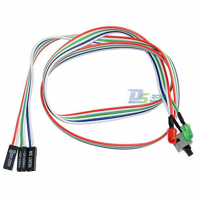 65cm ATX Off/On/Reset Power Switch Cable HDD LED Front Panel PC Replacement Wire