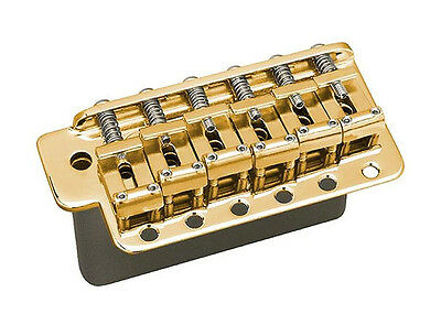 Gotoh GE101TS Stratocaster Strat Tremolo Guitar Bridge • Steel Block • Gold