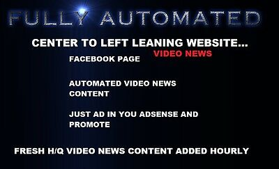 Most Advanced Video News Website (Completely Automated) CENTER to Left Leaning
