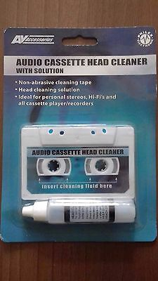 AV accessories  Audio Cassette / Tape Head Cleaner - With Fluid - NEW