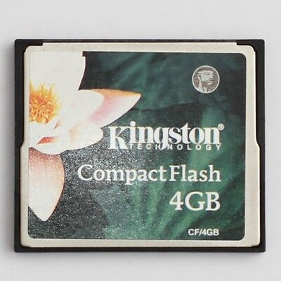 Kingston Technology 4GB Compact Flash CF CompactFlash Memory Card CF/4GB