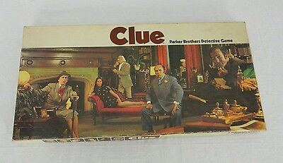 1972 Vintage Parker Brothers Clue Detective Mystery Board Family Fun Game Lot