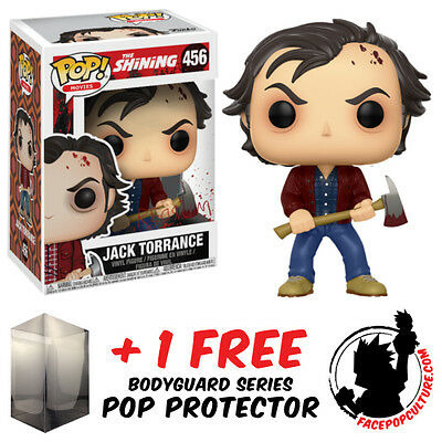 Funko Pop The Shining Jack Torrance Vinyl Figure + Free Pop Protector