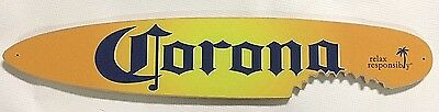 "Corona Beer Sunburst Small Shark Bite Surfboard Sign (19"" x 3.75"")"