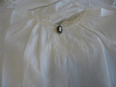 Edwardian Antique Christening Gown With Petticoat and Day Dress Tiny Cameo