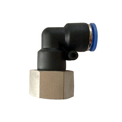 Pneumatic 90° angle female elbow push in fitting (PLF) Ø 16mm with thread BSPT