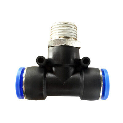 """Pneumatic push in T-fitting (PB) Ø 14mm with thread BSPT R3/8"""""""