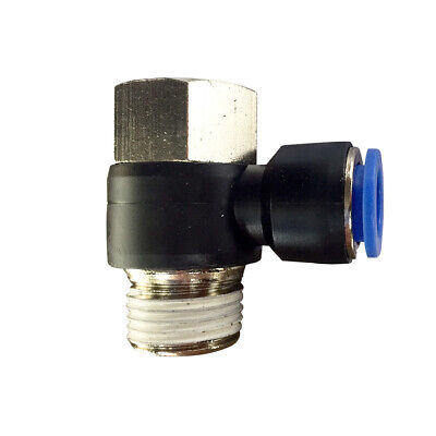 """Pneumatic female banjo push in T-fitting (PHF) Ø 10mm with thread BSPT R1/2"""""""