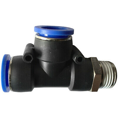 """Pneumatic push in T-fitting (PD) Ø 4mm with thread BSPT R1/8"""""""