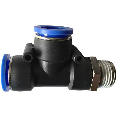 """Pneumatic push in T-fitting (PD) Ø 10mm with thread BSPT R1/8"""""""