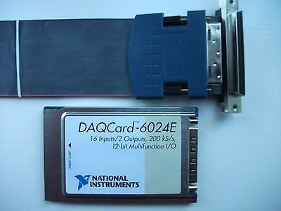 The National Instruments DAQCard-6024e  E Series card for PCMCIA slot.