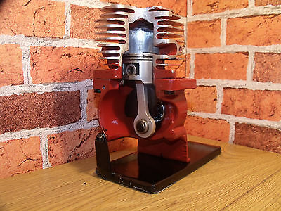 ENGINE, Stationary Engine, Sectioned, Mancave, Cut away, Desk toy, 2 Stroke.