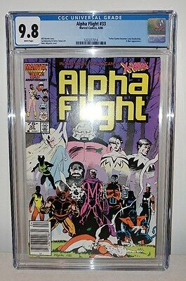 Alpha Flight #33 - CGC 9.8 - White Pages - 1st Lady Deathstryke - New