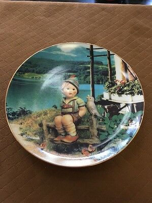 M I Hummel Carefree Days June Calendar Plate Collection Limited Edition 8""