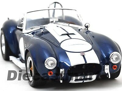 1965 Shelby Cobra 427 S/c Blue With White Stripes 1:18 Shelby Collectibles Sc121