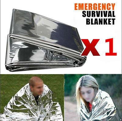 1x Space Blanket Thermal Thermo Foil Emergency Survival Camping Rescue First Aid