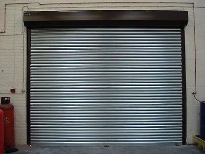 Single Door Roller Security Shutter Galvanised Inc Frame And Bullet Locks