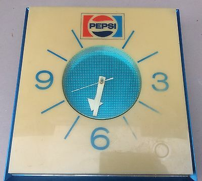 Vintage1973 Lighted Pepsi Electric Wall Clock with cord