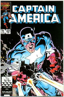 Captain America 321 Nm- 9.2 High Grade Mike Zeck Cover Marvel Copper Age Nr