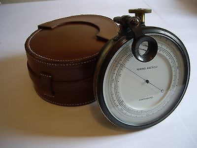 Superb Surveying Aneroid Barometer Altimeter+ Magnifier+Vernier & Case: Working
