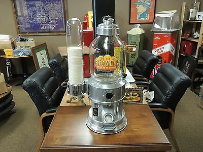 1934 Mabey Hot Nuts Vending Machine with Cup Dispenser L@@K Mint Coin op