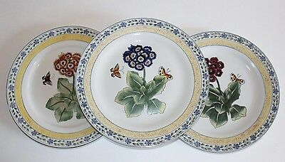 3 ORIENTAL ACCENT PLATE  MADE IN CHINA  flower butterfly 10 1/2""