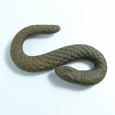 Post Medieval bronze snake buckle artifact