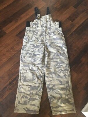 Guide Gear Mens XL Woodland Camouflage Bibs Insulated Sportsmans Overalls