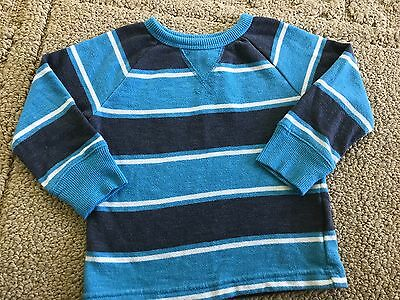 Gap Baby Boy Toddler Long Sleeve Shirt Blue/White/Gray/Stripe Size 18-24 M