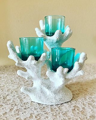 Retired Partylite Tropical Coral Votive Candle Holder