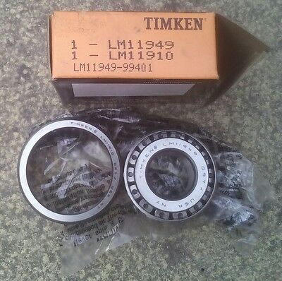 GENUINE TIMKEN LM11949 / LM11910 TAPERED ROLLER BEARING 19.05x45.237x15.494mm