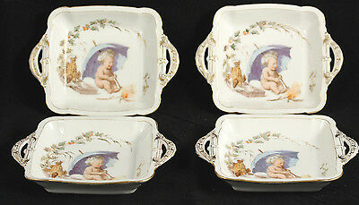 Vntg Haviland Limoges CFH Dish w Handles France Hand Painted Collectible Rare 4