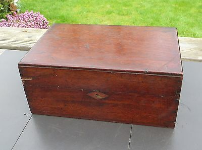 Vintage Mahogany Work/Jewellery Box for Restoration