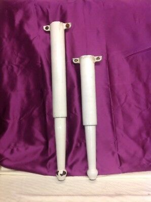 Two Count Vintage Farmhouse White Porcelain Adjustable Washboard Sink Legs
