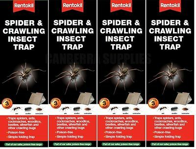 12 x RENTOKIL SPIDER & CRAWLING INSECT TRAP - ANTS WOODLICE COCKROACHES - New