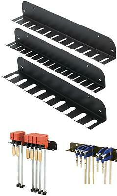 Clamp Rack Set 3 Pcs Include 1 each of F-clamp Pipe Clamp & Parallel Clamp Rack