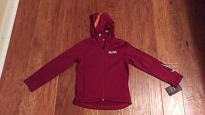 NWT Nike Boy's Maroon Therma Fit Zip Up and Warm Up Jacket Size 6