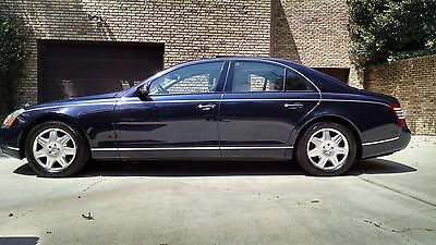2004 Maybach 57 Base Sedan 4-Door 2004 Maybach 57 Gorgeous Dark Blue V12 Twin Turbo & Intercooled Extra Low Miles