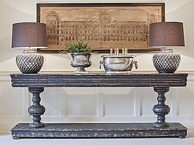 Vintage/ Feature/ Very Large Colonial Style Black Console Table - Castle/mansion