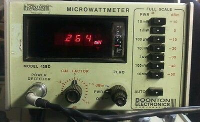 Boonton  Microwattmeter Model 42BD WORKING